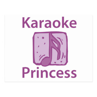 Karaoke Princess Postcard