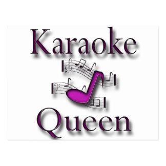 Karaoke Queen Postcard