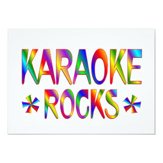 Karaoke Rocks Card