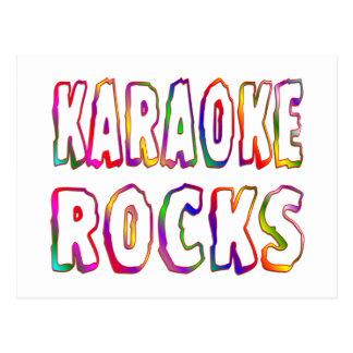 Karaoke Rocks Postcard