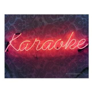 Karaoke Sign Postcard