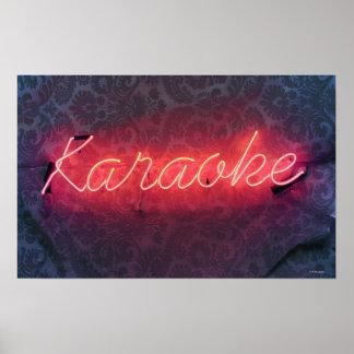 Karaoke Sign Poster