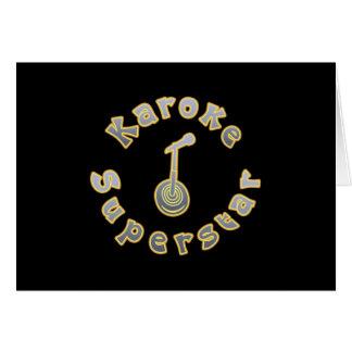 Karaoke Superstar & Mic (National Karaoke Week) Card