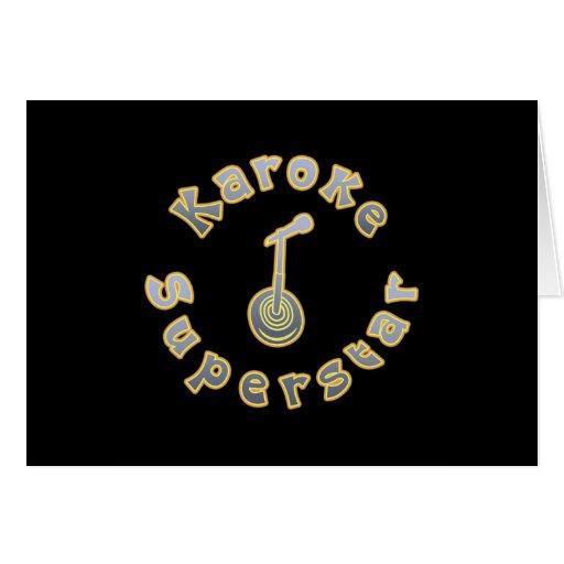 Karaoke Superstar & Mic (National Karaoke Week) Greeting Card