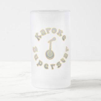 Karaoke Superstar & Mic (National Karaoke Week) Frosted Glass Mug