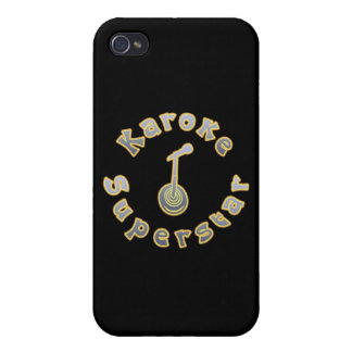 Karaoke Superstar & Mic (National Karaoke Week) iPhone 4 Cover