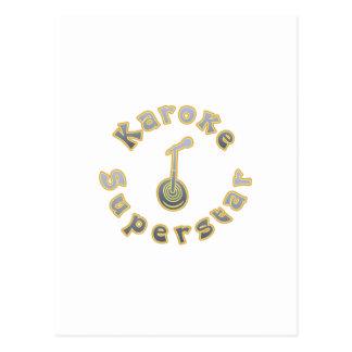 Karaoke Superstar & Mic (National Karaoke Week) Post Card
