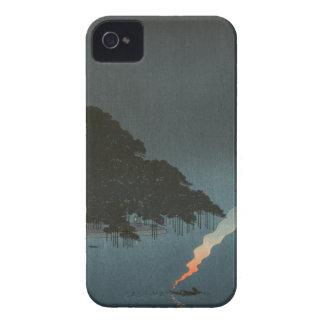 Karasaki Pines at Night - Japanese Woodblock Print iPhone 4 Case-Mate Cases