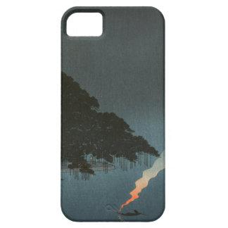 Karasaki Pines at Night - Japanese Woodblock Print iPhone 5 Case