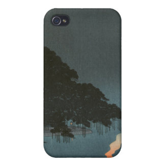Karasaki Pines at Night - Japanese Woodblock Print Case For The iPhone 4