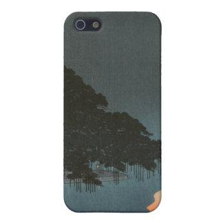 Karasaki Pines at Night - Japanese Woodblock Print iPhone 5 Cover