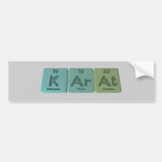 Karat-K-Ar-At-Potassium-Argon-Astatine.png Bumper Sticker