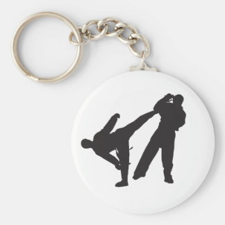 karate basic round button key ring