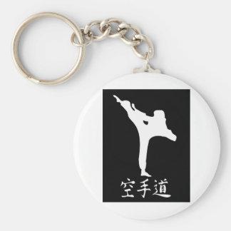 Karate Basic Round Button Key Ring