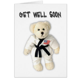 Karate Bear Get Well Soon Card