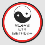 Karate Birthday Party Favour Labels