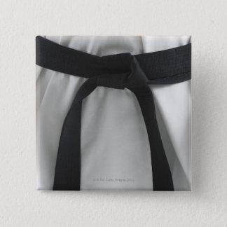 Karate black belt 15 cm square badge
