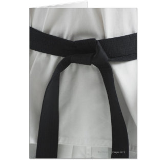 Karate black belt card