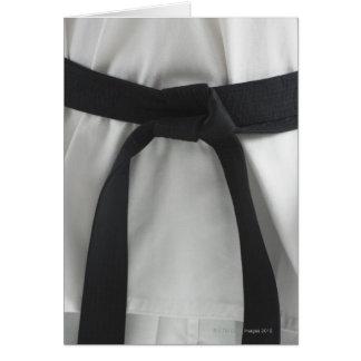 Karate black belt greeting card