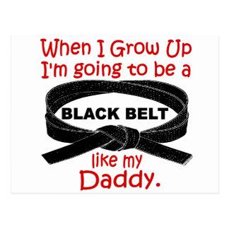 KARATE Black Belt Like My Daddy 1 Postcard