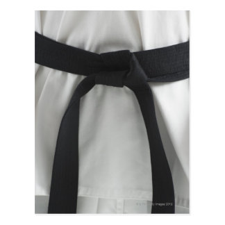 Karate black belt postcard