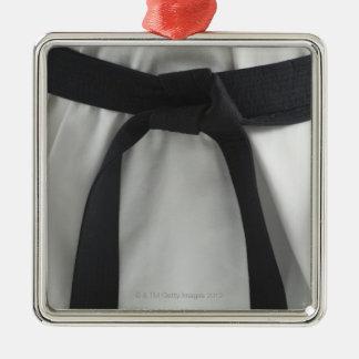 Karate black belt Silver-Colored square decoration