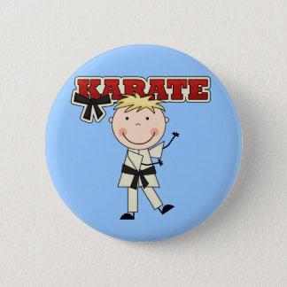 KARATE - Blond Boy Tshirts and Gifts 6 Cm Round Badge