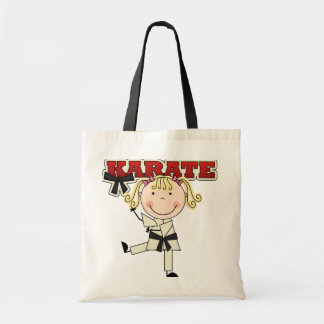 KARATE - Blond Girl T-shirts and Gifts Budget Tote Bag