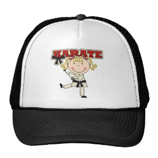 KARATE - Blond Girl T-shirts and Gifts Cap