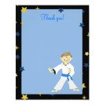 KARATE BOY Blue Belt 4x5 Flat Thank you note 11 Cm X 14 Cm Invitation Card