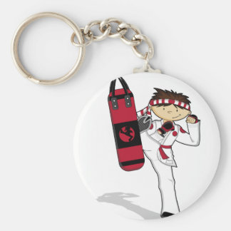 Karate Boy Keychain