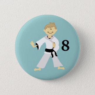 KARATE BOY Personalized Birthday Button