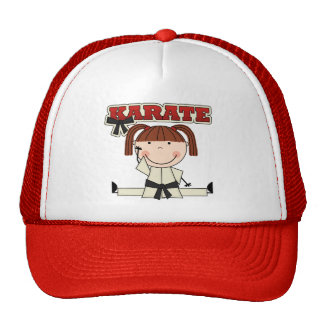 KARATE - Brunette Girl T-shirts and Gifts Cap