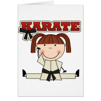 KARATE - Brunette Girl T-shirts and Gifts Greeting Card