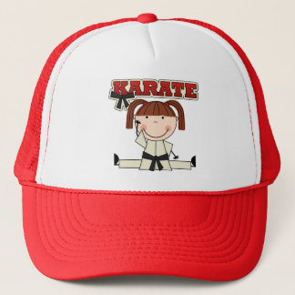 KARATE - Brunette Girl T-shirts and Gifts Trucker Hat