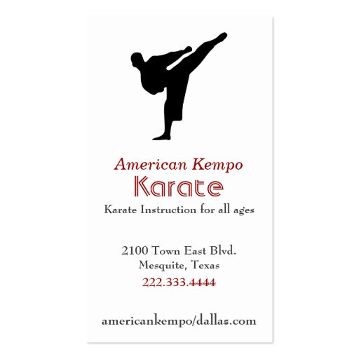 Karate Business Card