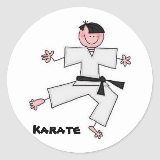 Karate Cartoon Sticker