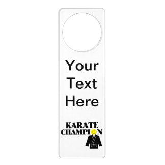 Karate Champion Smiley Face Door Hanger
