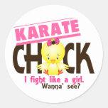 Karate Chick 1 Round Stickers