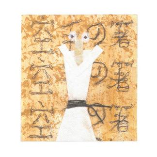 Karate Chopstick Notepad