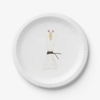 Karate Chopstick Paper Plate 7 Inch Paper Plate