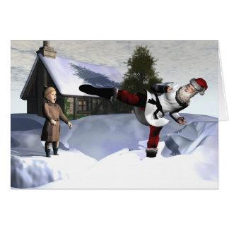 Karate Claus Cards