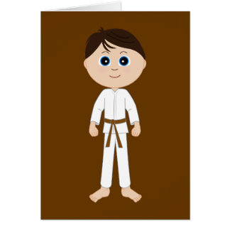 Karate Congratulations Brown Belt Card
