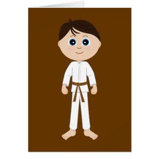 Karate Congratulations Brown Belt Greeting Card