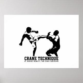 Karate - Crane Technique Poster