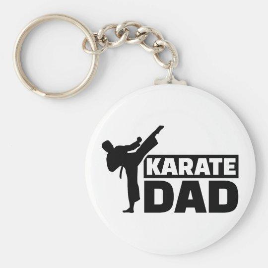 Karate Dad Basic Round Button Key Ring