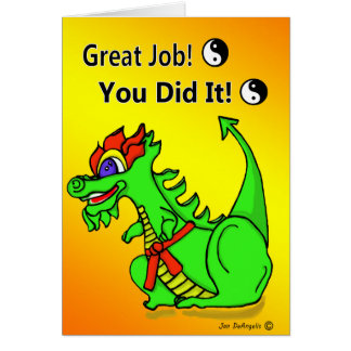 Karate Dragon Orange Belt Promotion Greeting Card