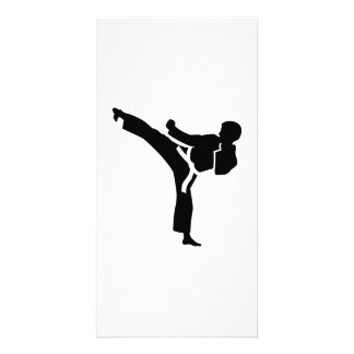 Karate fighter photo cards