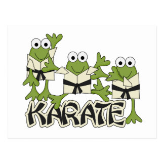 Karate Frogs Tshirts and Gifts Postcard