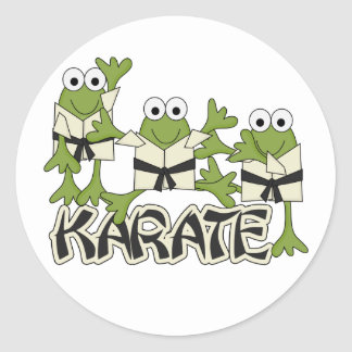 Karate Frogs Tshirts and Gifts Sticker